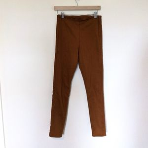 Divided H&M Trousers Mustard Brown Side Zip s. 6